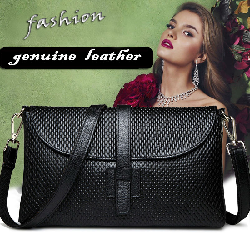 Image 3 - 2019 Classic Shoulder Bag Women Genuine Leather  Crossbody Bag  Real Leather Saddle Messenger Cover Bag free shippingbag women  genuineshoulder bag womenbag women