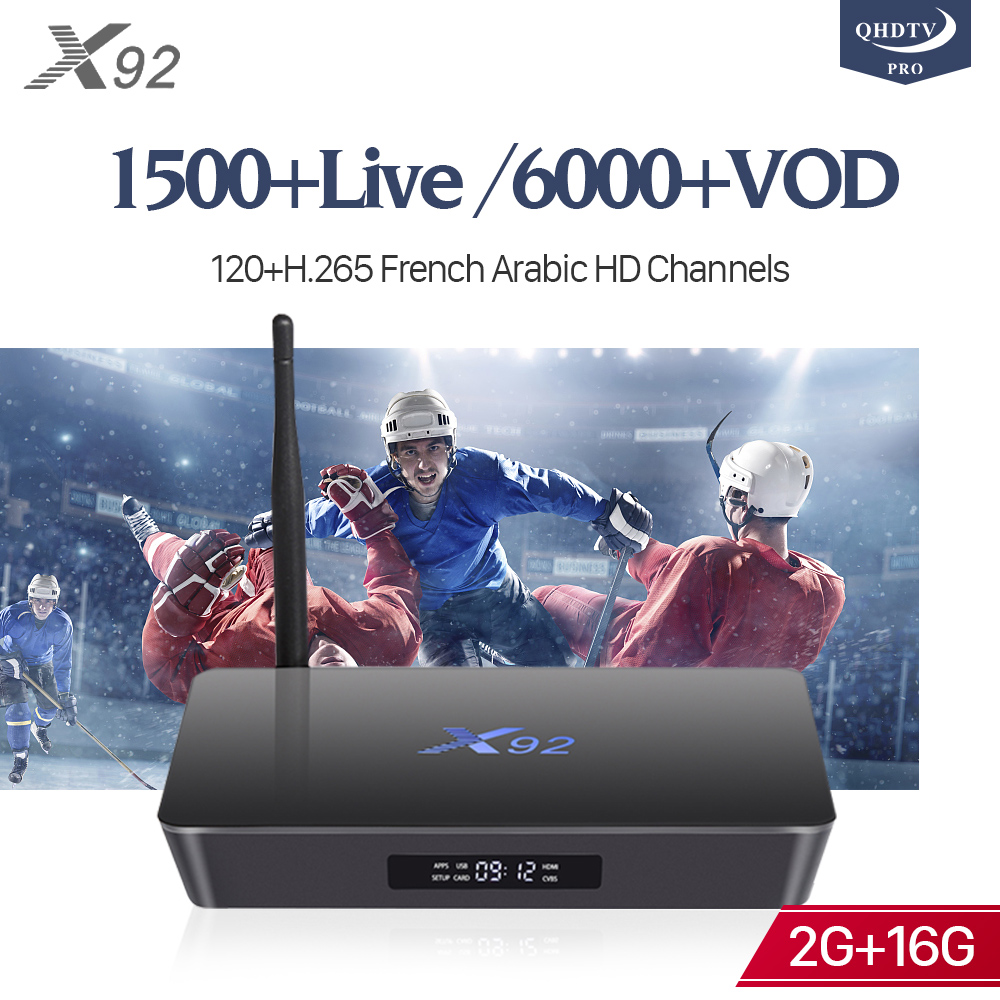 X92 QHDTV Pro IPTV Box 4k S912 2G 16G TV Receivers with 1 Year IP TV Code France Arabic Belgium Spain Italia Netherlands IPTV iptv subscription qhdtv pro 1 year android 7 1 2g 16g s905w tv receivers a95x r2 iptv france belgium dutch arabic europe ip tv