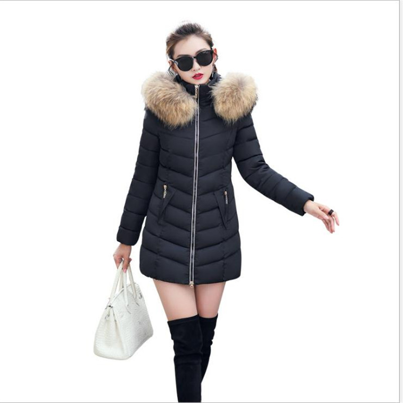 2019 New Autumn Winter Women Medium-Long   Parkas   Hooded Casual Slim Down Cotton Female Plus Size 4XL Warm Padded Jacket CQ2148