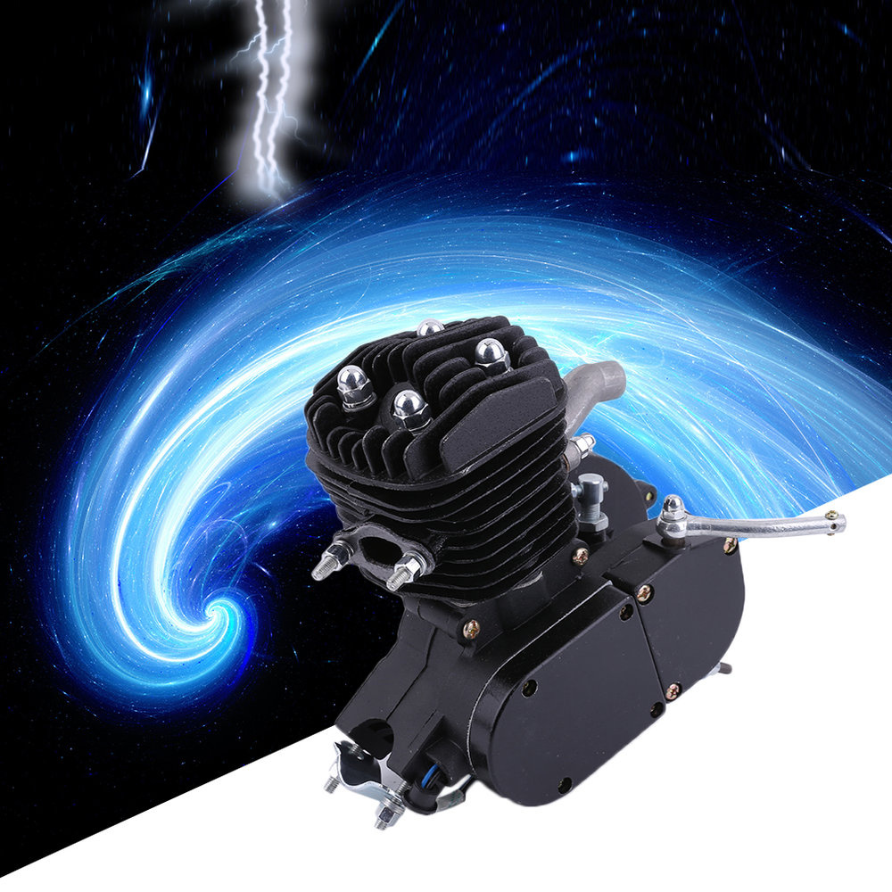 Exquisite 2 Stroke 80cc Cycle Motor Engine Kit Gas Perfect For Motorized Bicycles Cycle Bikes Black 2018 rushed 80cc 2 stroke motorized bicycle cycle petrol gas engine motor kit motorized new