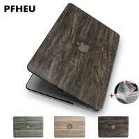 Nuovo Classico di legno del grano di cuoio DELL'UNITÀ di elaborazione superiore per MacBook Air Pro Retina 11 12 13 15 pollici Touch Bar + copertura Della tastiera