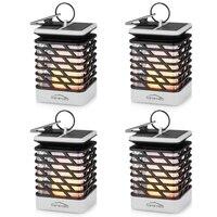 4PCS LED Solar Street Lamps Flame Environmentally friendly Light Waterproof Outdoor Vintage Garden Solar Light