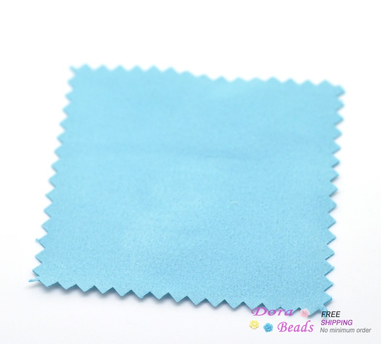 DoreenBeads 2 PCs Silver Jewelry Cleaning Cleaner Polishing Cloth Lens Clothes 82x82mm (B04609S)