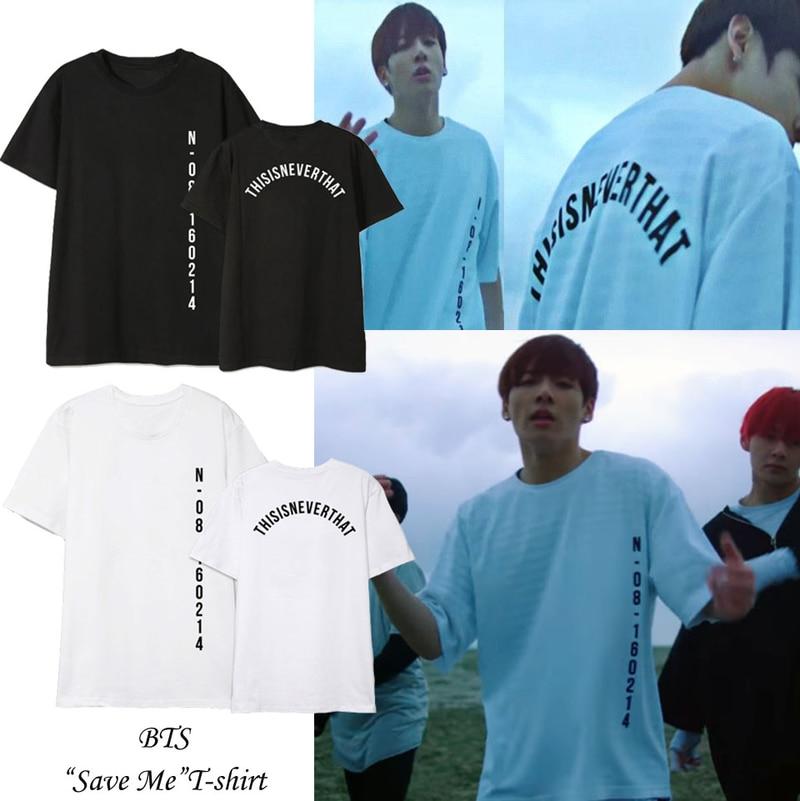 Novo 2019 Kpop Tshirt ME SALVAR Moda T-shirt Mulheres e Homens Meninos Bangtan Camisa De Fitness Mulheres Coreano Estilo Verão Top jungkook
