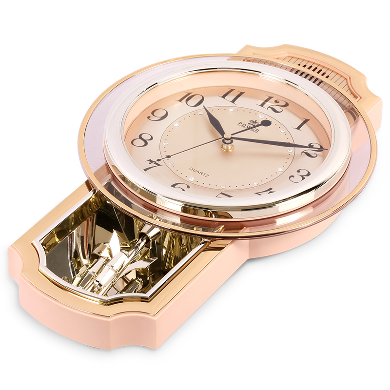 16 дюймов, современные бесшумные настенные часы с точным механизмом, ежечасный музыкальный колокольчик и яркие часы, офисные кварцевые часы,... - 3