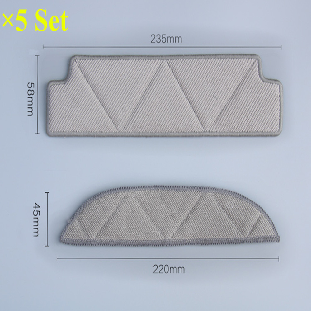 10pcs/lot  Mopping Cleaning cloth Dishcloth dishrag For Ecovacs Winbot W710 W730 TBW60TG TBW61 WRN60 WRN70 Replacement