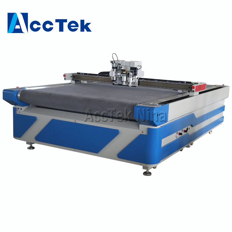 Auto Feed CNC Vibrating Knife Kt Board Advertising Board Flatbed Vinyl Large Format Banners Cut Flatbed Cutting Machine