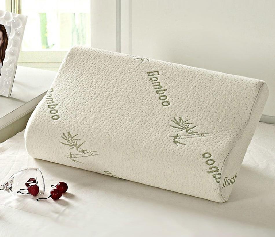 2016 Original Bamboo Fiber Pillow Slow Rebound Health Care Memory Foam Pillow Memory Foam Pillow Support The Neck Fatigue Relief