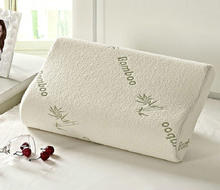 Original Bamboo Fiber Pillow Slow Rebound Health Care Memory Pillow Memory Foam Pillow Support Neck Fatigue Relief Neck Pillow