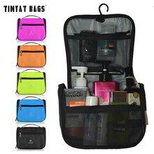 TINYAT, Мужская Дорожная сумка для мытья, женская сумка для туалетных принадлежностей, изящная женская косметичка, органайзер, Дорожный Чехол, косметичка, сумка, T702, Черная