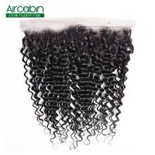 Pre Plucked Brazilian Deep Wave Frontal Closure Aircabin NonRemy 100% Human Hair Frontal 13x4 Lace Frontal Closure Free Shipping