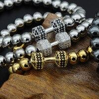 MCSAYS Punk Halskette Voller Kristall CZ Perle Kette Gold und silber Armband Biker Spezielle Design Armreif Dope Geschenk für Männer MJ