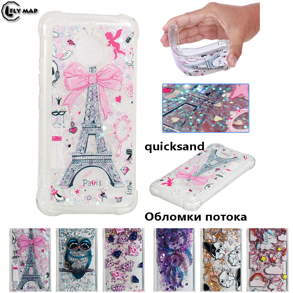Unicorn Owl Cover for Motorola Moto E4 E Gen 4 MotoE4 XT1767 XT1766 XT1762 XT1763 Dynamic Liquid Debris TPU Quicksand Back Case