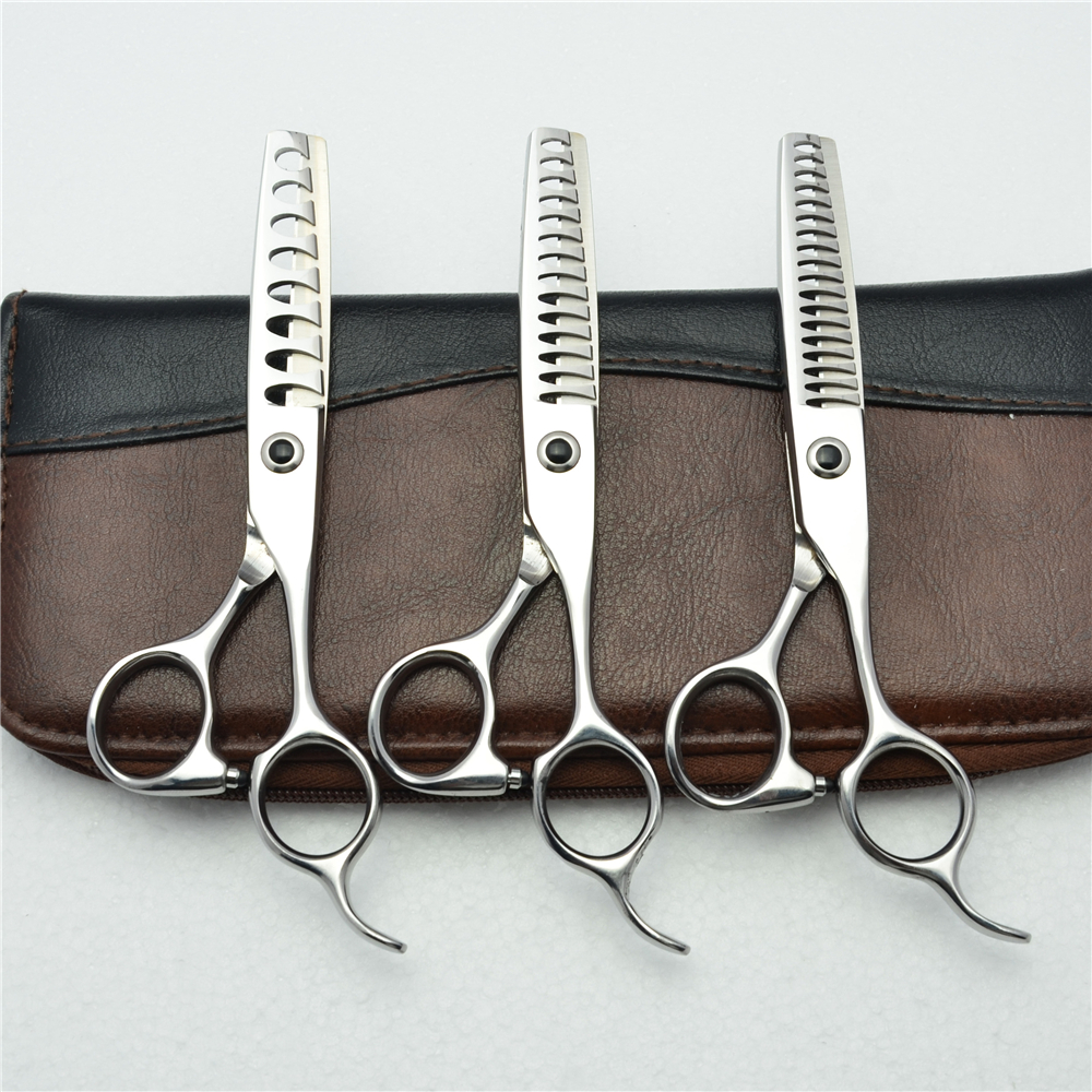 6'' Customized Logo 440C Professional Human Hair Thinning Scissors Hairdressing Shears 8/14/18 Teeth Thinning Rate 35%-50% C2004