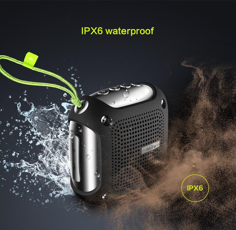 Mifo H3 IPX6 waterproor Bluetooth speaker portable Subwoofer music Waterproof Wireless receiver call Handsfree bluetooth speaker цена