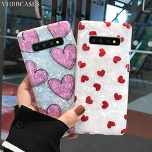 YHBBCASES For Samsung Note 10 8 9 Fashion Conch Shell Cover Galaxy S10 5G S8 S9 Plus Cartoon Love Heart Soft Cases