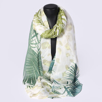 HL07129 Wholesale spring and Summer chiffon long Beach scarf 100% Silk scarf large Elegant Fresh Scarf