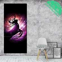 3 Piece Running Deer Modern Wall Painting Posters and Prints Picture Canvas  Framed Decorative Pictures