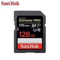 SanDisk Extreme Pro Memory Card SDHC/SDXC SD Card 32GB 64GB 128GB 256GB C10 U3 V30 UHS I cartao de memoria Flash Card for Camera