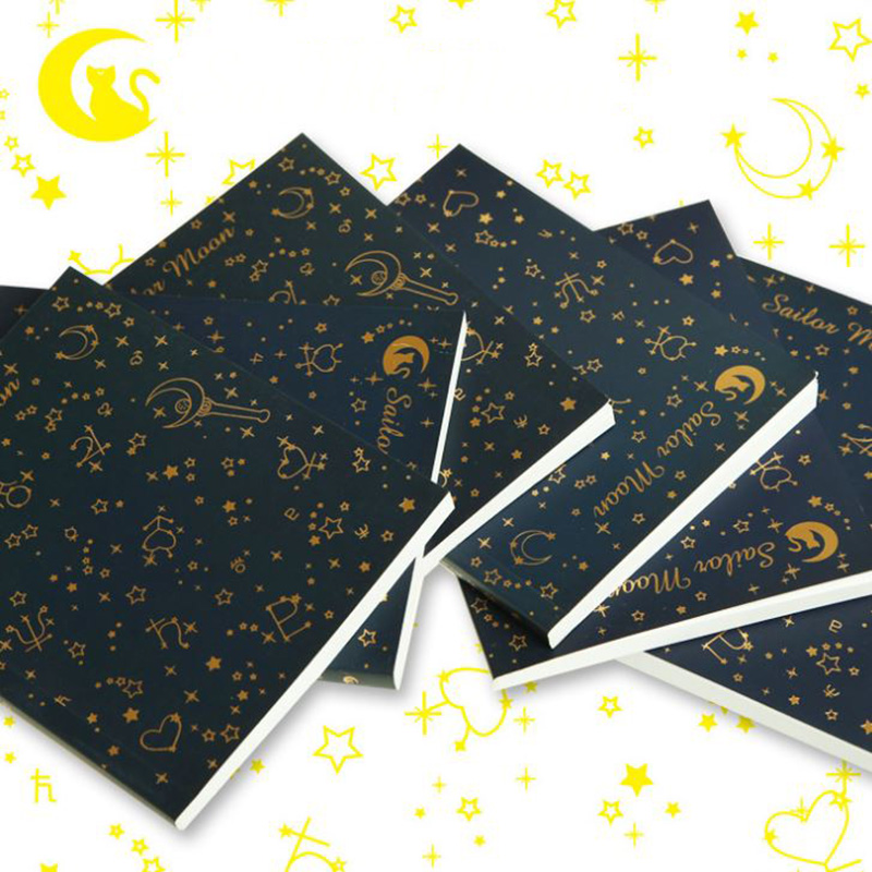 1 Pc Hot sale Anime Sailor Moon gold blocking notebook Japan Style Cosplay Figure toy цена
