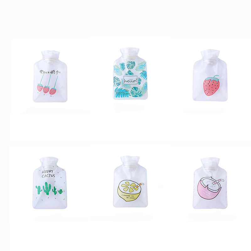 Cute Cartoon Hand Po Warm Water Bottle Portable Cactus Hot Water Bag Safe And Reliable PVC Washable Water Injection Storage Bag