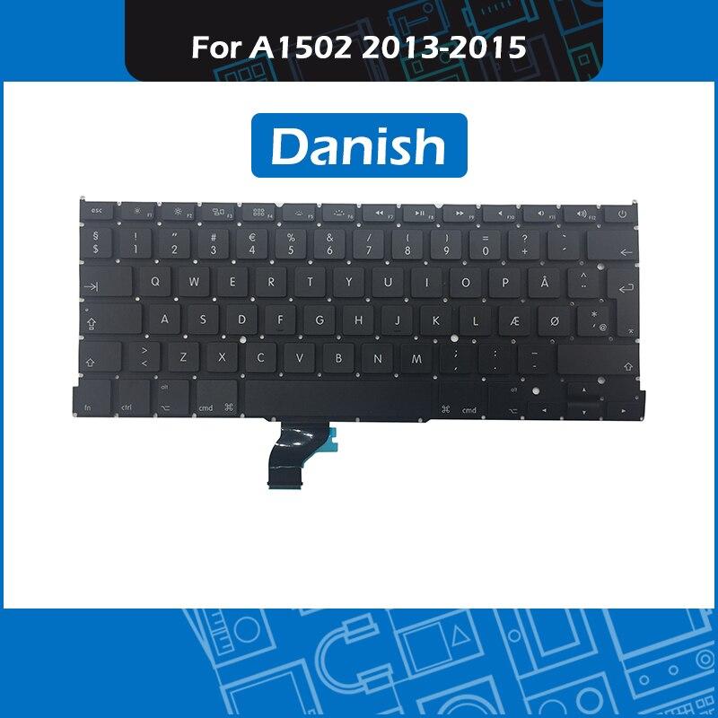 5pcs lot A1502 DK Danish Keyboard for font b Macbook b font Pro 13 inch Retina