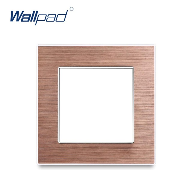 Wallpad Luxury Aluminum Alloy Panel Frame Brown Hotel Panel Vertical and Horizon Frame 1 2 3 4 5 Frames Panel Only