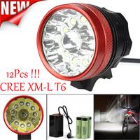 ISHOWTIENDA Cycling Light Frame 30000LM 12 x CREE XM L T6 LED 6 x 18650 Bicycle Cycling Light Waterproof Lamp Accessories