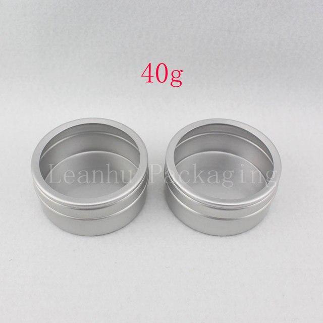 Nueva Venta Al Por Mayor 20X40 ml vacío Caja De Aluminio 40g Redonda mate De Aluminio crema puede olla, crema cosmética Contenedor bálsamo Lata de Té botella