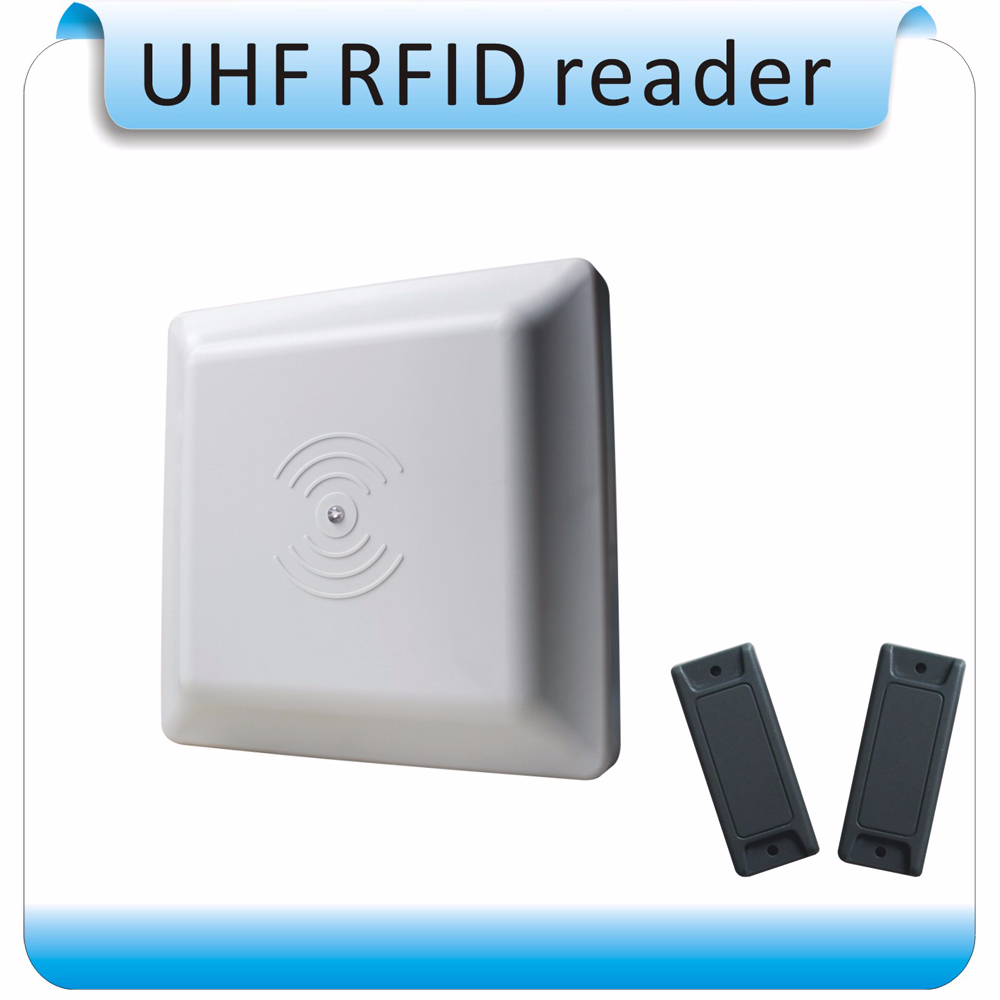 902-928 MHZ UHF RFID lecteur ISO18000-6C/6B RS232/RS485/Wiegand 26 Lecteur UHF RFID Lecteur + 2 pièces étiquettes RFID