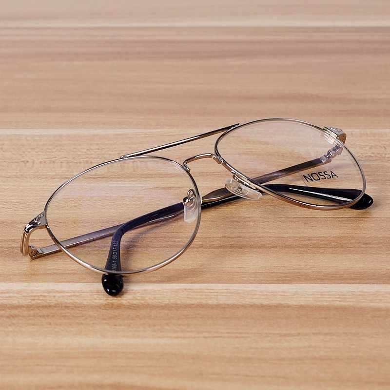 Nossa Perak Miopia Resep Kacamata Bingkai Wanita & Pria Emas Logam Bingkai Kacamata Paduan Kacamata Baca Bingkai