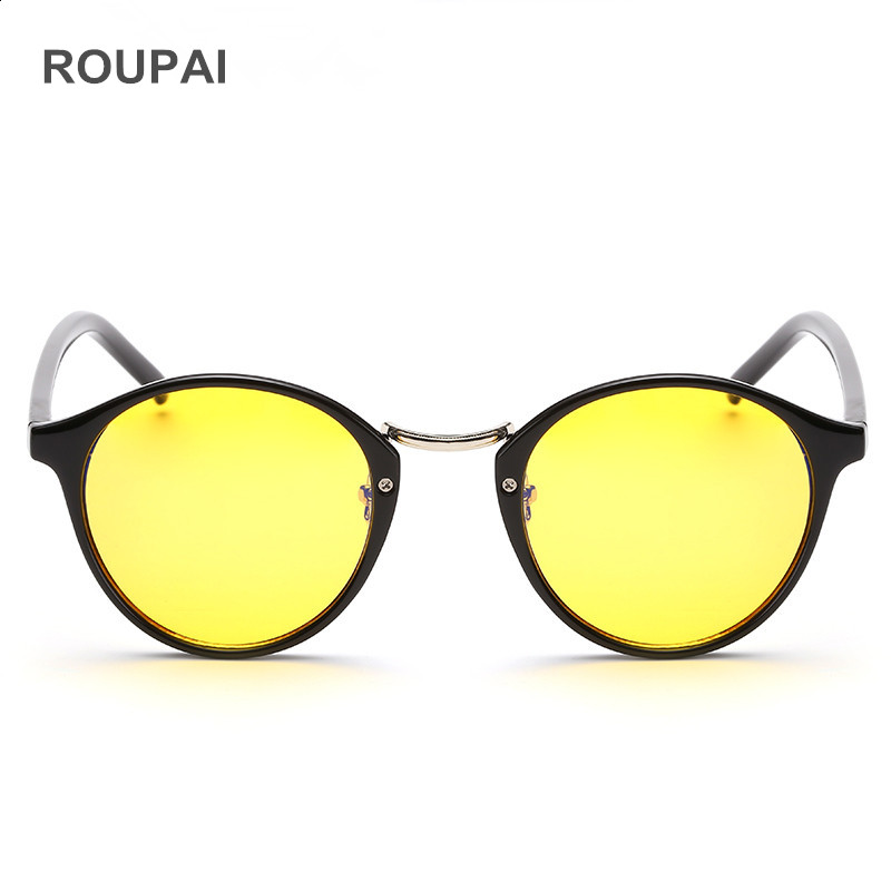 ROUPAI Computer Reading Glasses Unisex Anti Blue Light Radiation yellow lens eyeglasses frame Gaming Goggle for men women H8065