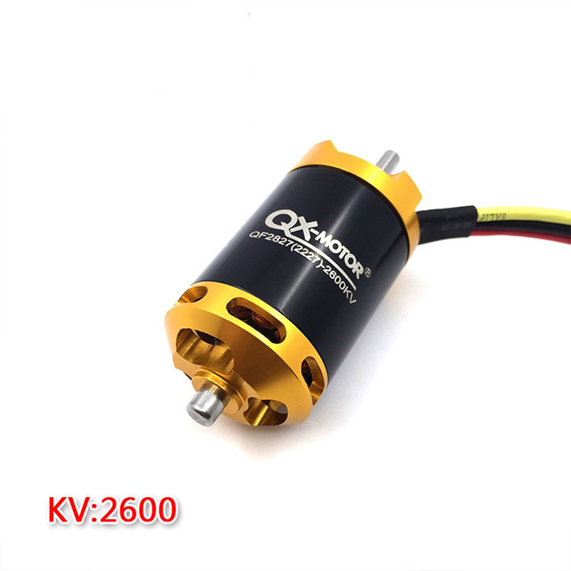 цена на QX-MOTOR Brushless Motor 2300KV/2600KV 6 Blades/12 Baldes Ducted Fan EDF Motor QF2827 70mm 3-4S Lipo For Jet RC Airplanes F22143