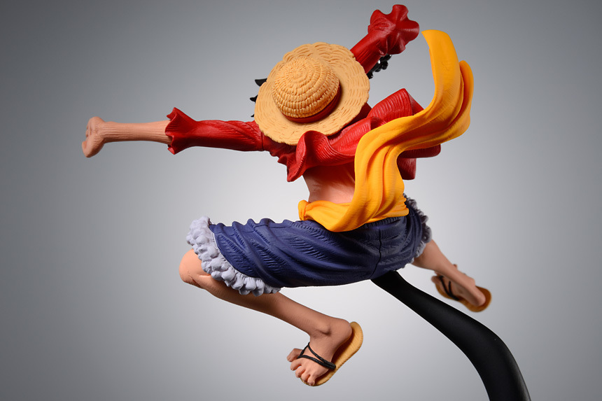 Monkey D Luffy Action Figure Backview