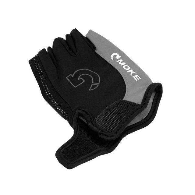 2018 1Pcs Men Women Half Finger Anti Slip Gel Pad Cycling Running Sports Motorcycle MTB Road Bike Gloves Running Bike Gloves W13