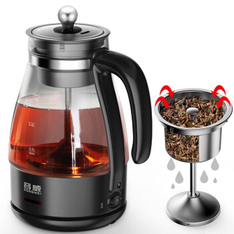 Glass Electric Kettle Steam Teapot Automatic Tea Maker Kit with Stainless Steel Filter&Lid/LED Display/ Touchpad Control automatic kettle electric brewing tea stainless steel teapot