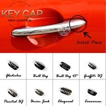 Бренд Mini Cooper ABS материал УФ защищенный хром стиль ключ крышка для Mini Cooper F55 F56 F57 F54 F60(1 шт./компл