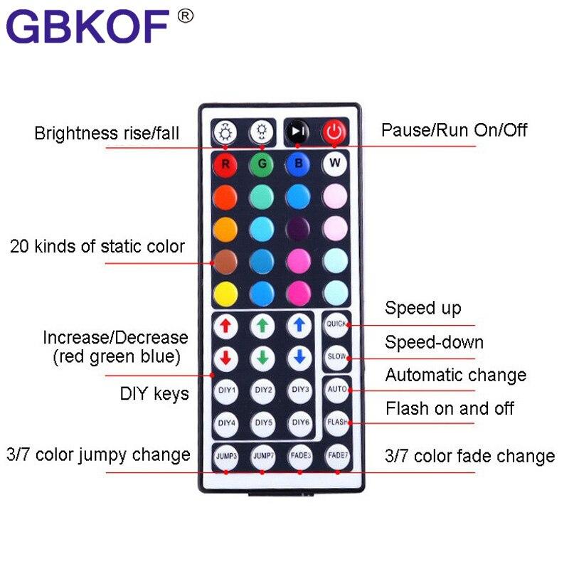 Оптовая продажа 300 LED 5050 RGB белого и синего цвета зеленый теплый белый красный желтый цвет 5050 Светодиодные ленты огни 60LED/m включают 12 В адапте...