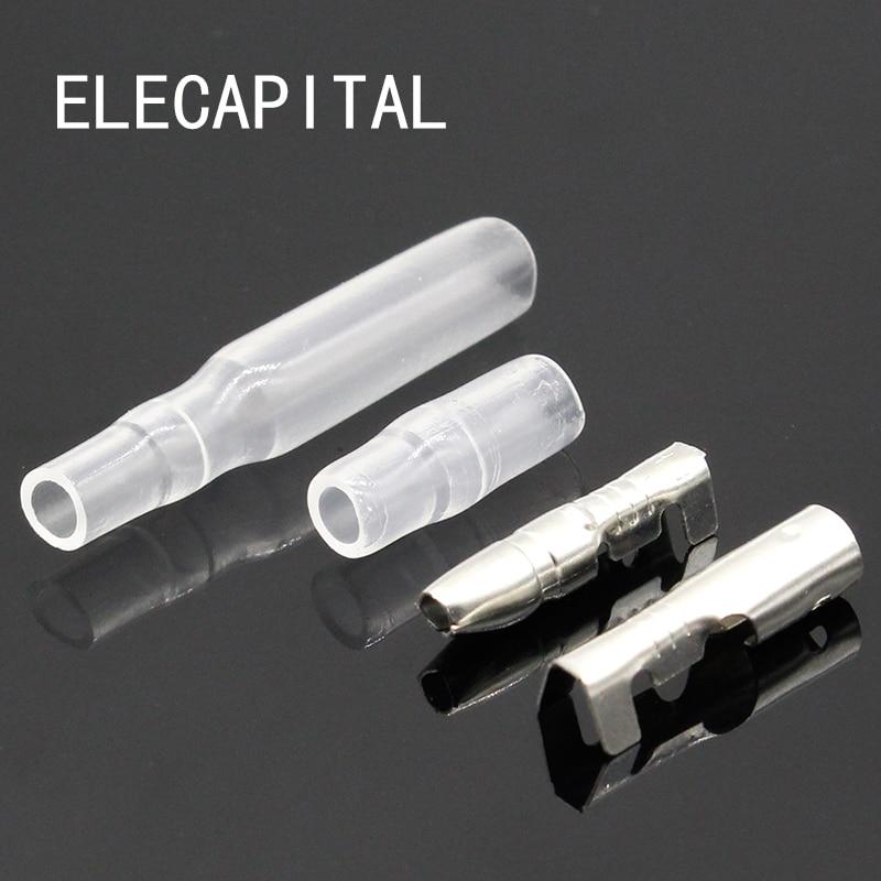 50Sets 4mm Male /& Female Bullet Connector Crimp Terminal Wire Socket for fit Car