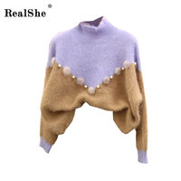 RealShe Thicken Warm Knitting Sweaters And Pullovers For Women 2018 Winter Casual Elastic Turtleneck Knitwear Female