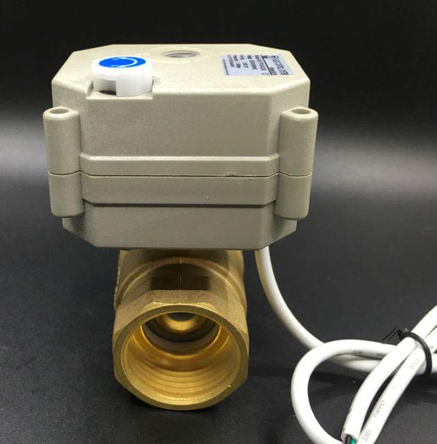 TF25 B2 B Marke Wasser Betätigte Ventil BSP/NPT 1 \'\'DC5V 2/3/5/7 ...