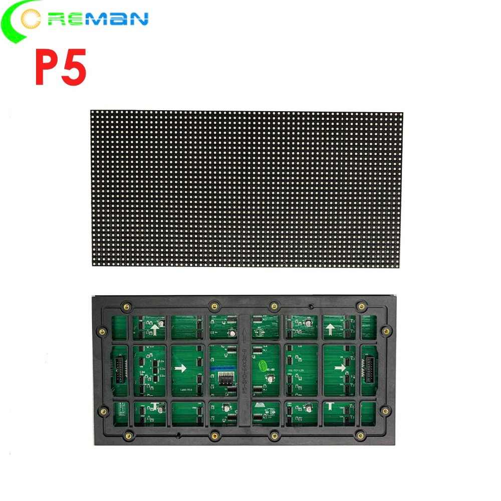 Günstige preis Outdoor-led-display modul p5 320mm x 160mm, voll farbe rgb P5 outdoor led-modul 32x64 smd2727 hub75 1/8S
