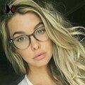 Clássico Mulheres Rodada Óculos de Armação Marca Homens De Designer de Moda Decoração de Unhas Vidros Ópticos Óculos de Leitura