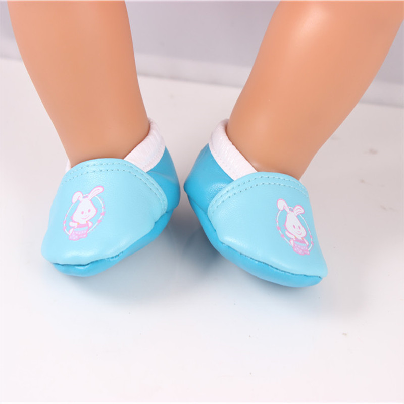 Doll Accessories,Blue Doll Shoes Wear fit 43cm Baby Born zapf, Children best Birthday Gift LH135