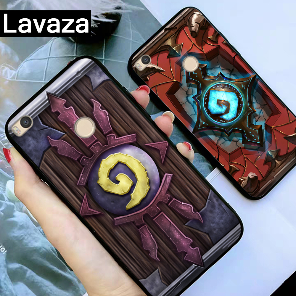 Lavaza Hearthstone classic Silicone Case for Redmi 4A 4X 5A S2 5 Plus 6 6A Note 4 Pro 7 8 k20 Prime Go in Fitted Cases from Cellphones Telecommunications