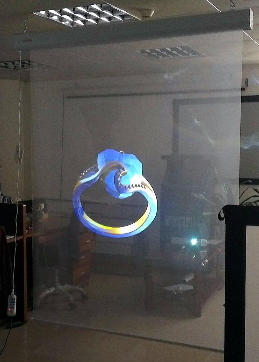 ! Film transparent d'écran de projection de film de projection arrière holographique de 1.524 m * 0.65 m pour l'affichage de fenêtre - 4