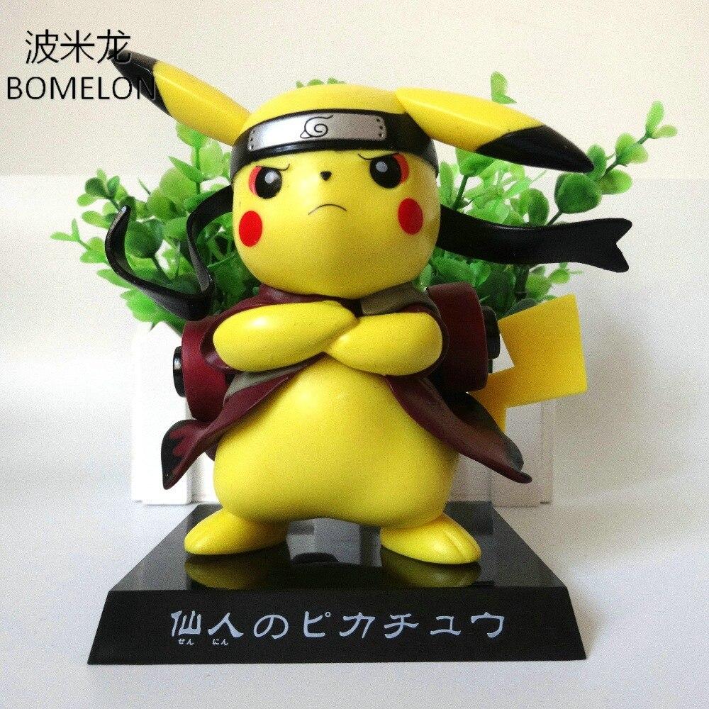 13CM Pikachu Aciton Figures Cosplay Naruto Puppets Pocket MonsterToys Anime Figures Kids Birthday  Gifts Decoration Brinquedos