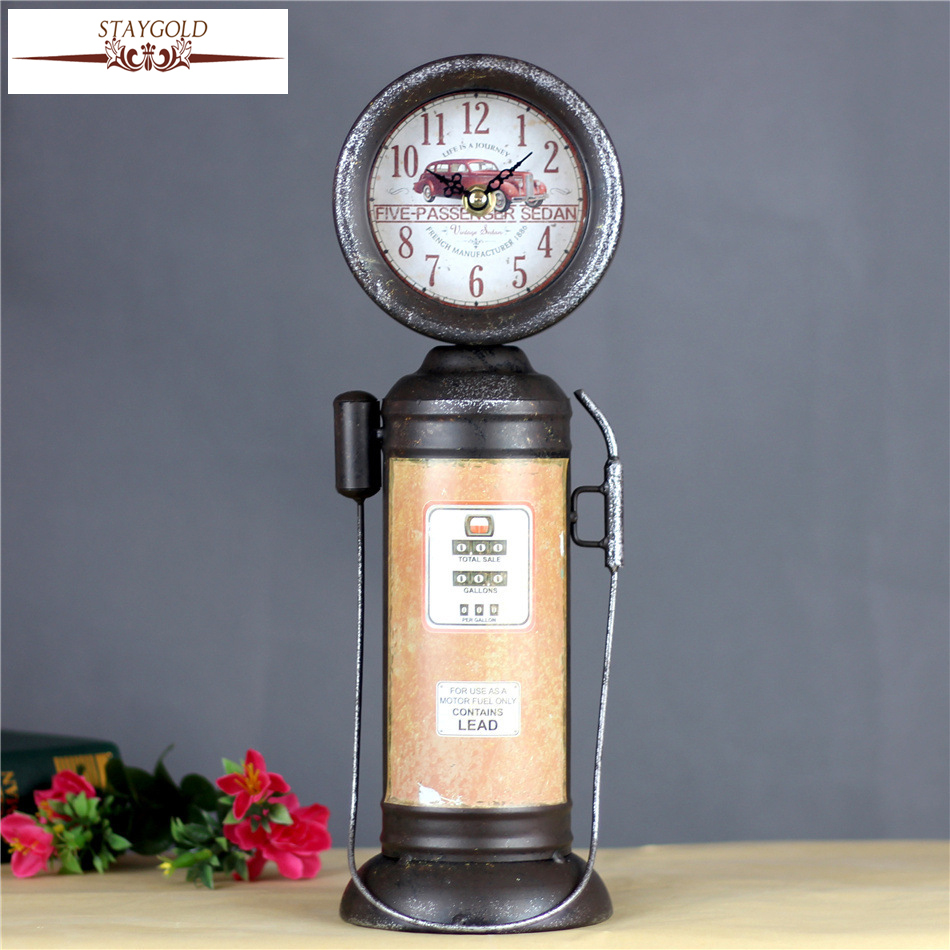 Nozzle Shape Metal Crafts Creative Clock Watch Home Decoration Gift Table Vintage Table Clock