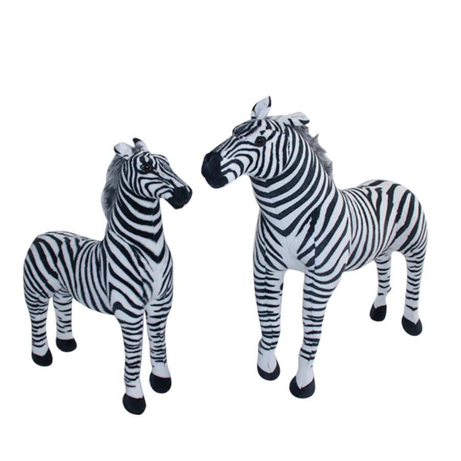 Kids Large Zebra Plush Toys Stuffed Animals Simulation Valentines