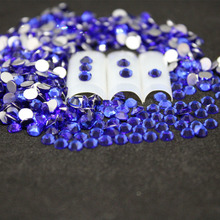 1440 pcs/Pack SS16-SS20 Sapphire Nail Art Decorations Rhinestones For 3d Charm Glass Flatback Non Hotfix DIY Nails Decorations стразы для одежды blingworld rhinestones 1440 4 ss16